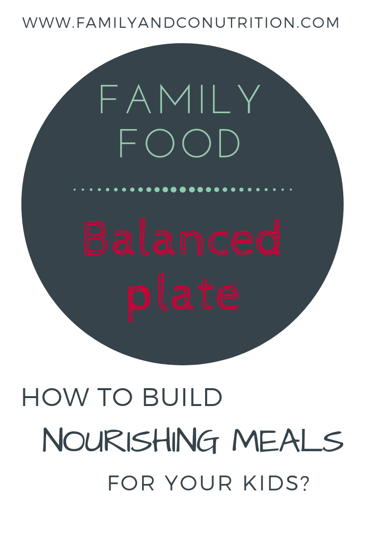 Balanced plate that will nourish your whole family and kdis