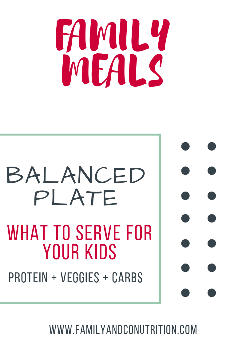 How to build a balanced plate for your kids