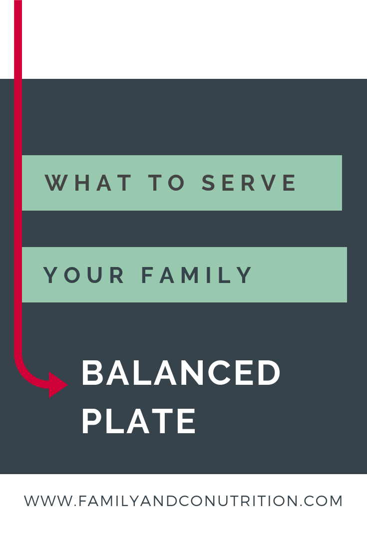 Balanced plate for your family