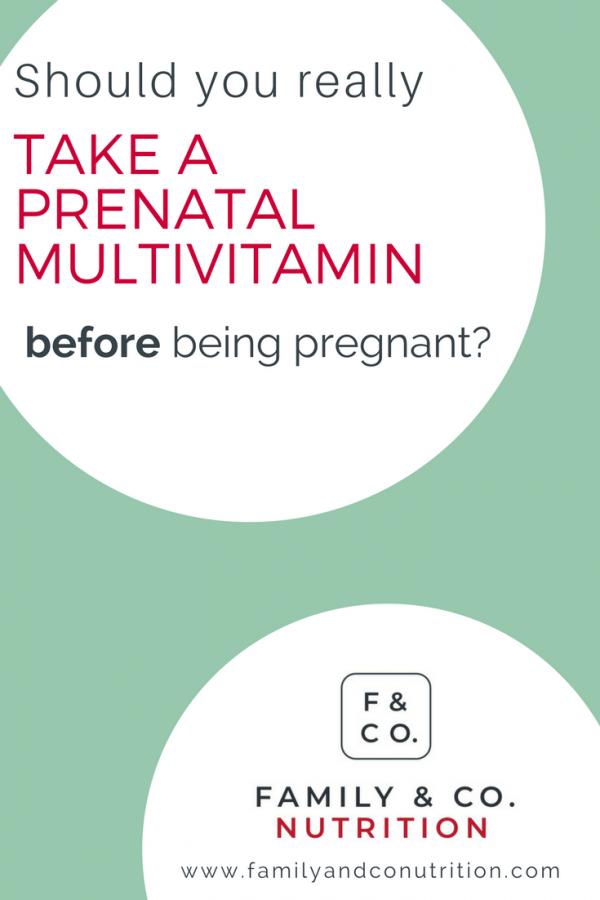 Taking prenatal vitamins before pregnancy
