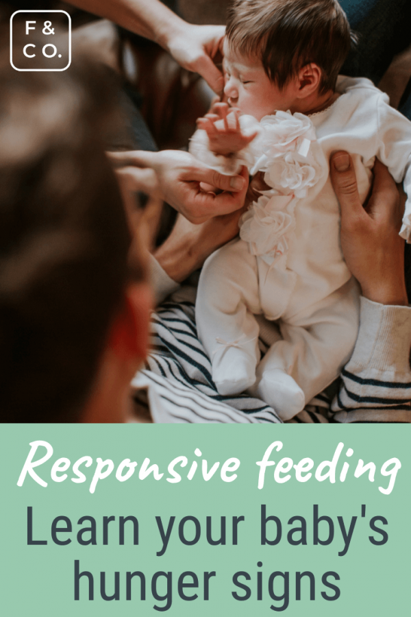 Responsive feeding and learning baby's hunger cues