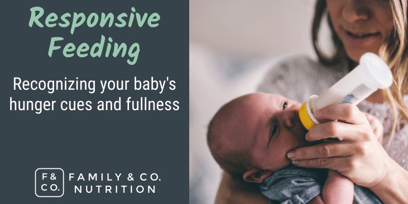 Responsive Feeding: How to know when your baby is full and learning their hunger cues