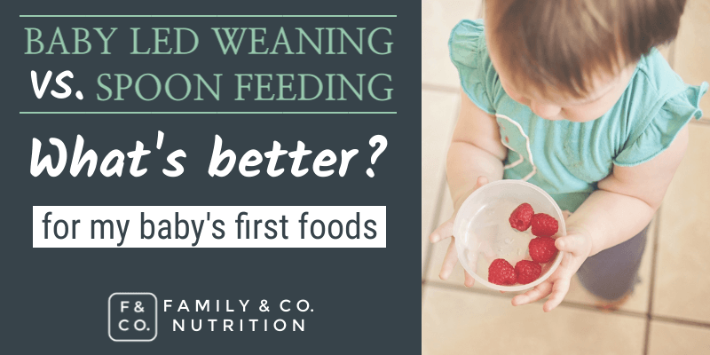 Parents can try baby led weaning or spoon feeding baby's first foods