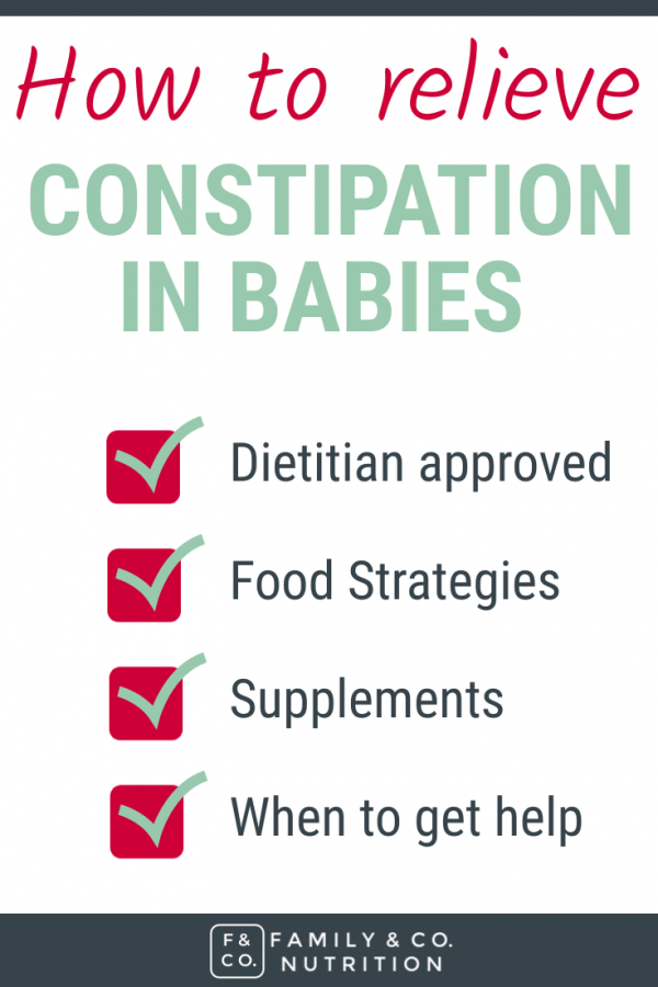 Constipation prevention for babies.