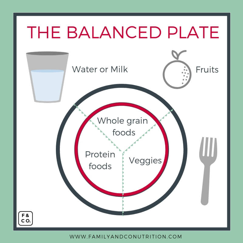 Balanced plate of food 2019