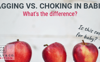 What's the difference between gagging and choking in babies?