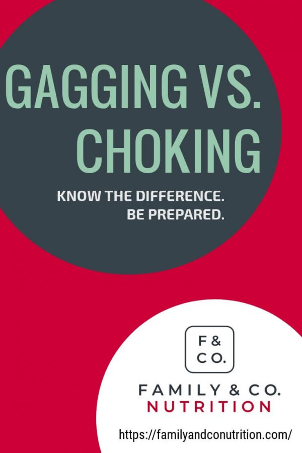 Difference between gagging and choking in kids
