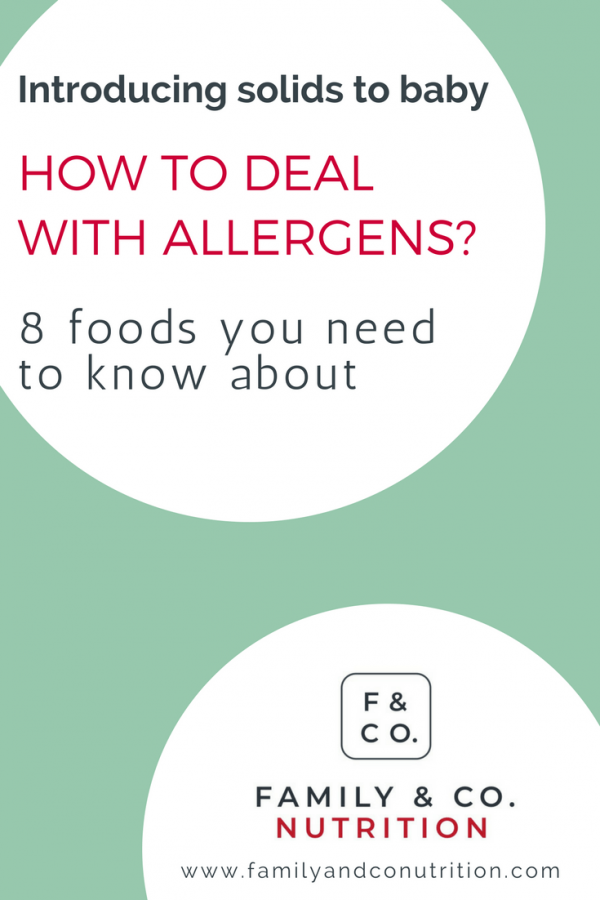 Safely introducing allergens with solid foods