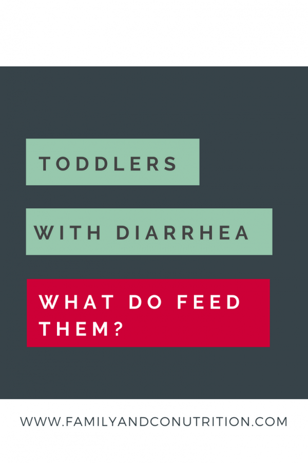 Food to give toddlers with diarrhea