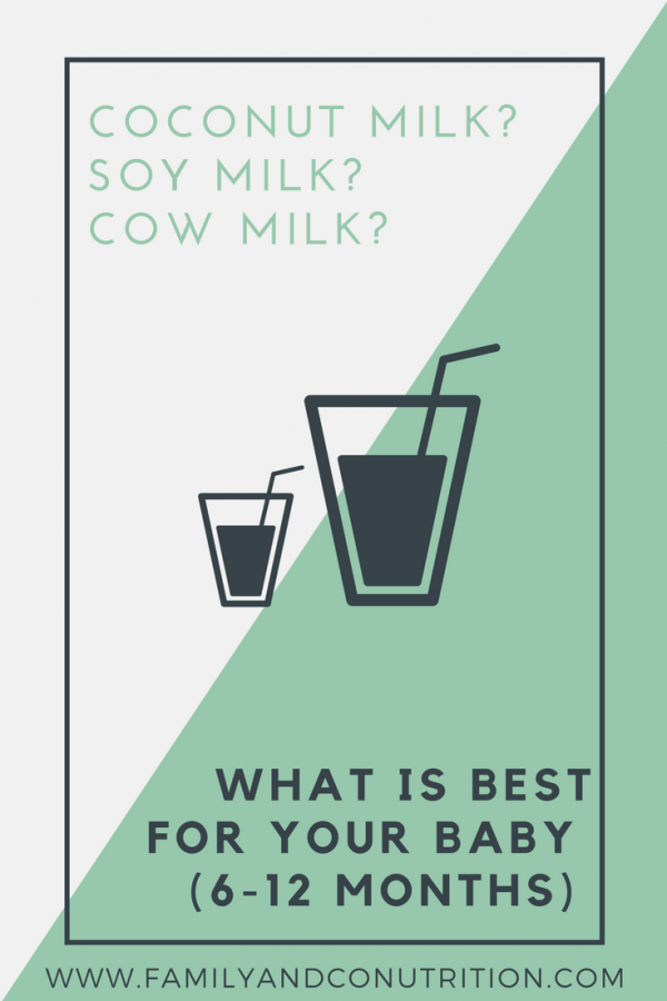Introducing cows milk for babies and alternatives
