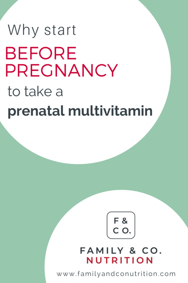Taking prenatal vitamins when trying to conceive